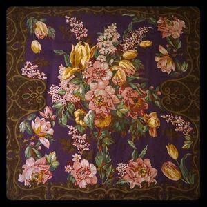 Vintage Authentic Silk Ralph Lauren Square Scarf
